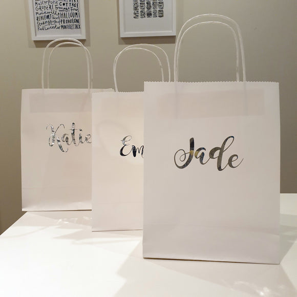 Personalised White Gift Bags