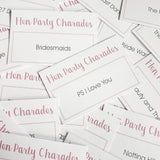Hen Party Charade Cards