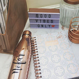Personalised Rose Gold Metal Water Bottle
