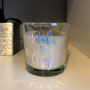 Personalised Name Candle