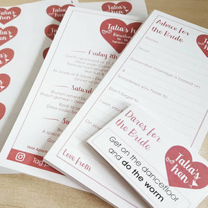 Advice For The Bride Hen Party Game