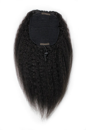Blow Out Straight Drawstring Ponytail