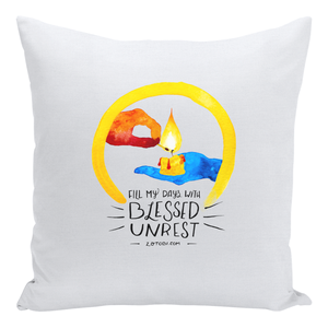 Blessed Unrest Throw Pillow