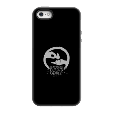 Blessed Unrest Hard Phone Case (grey on black)