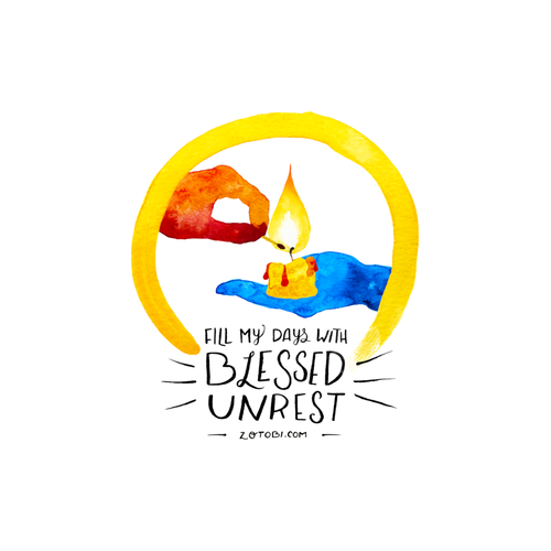 Blessed Unrest Stickers