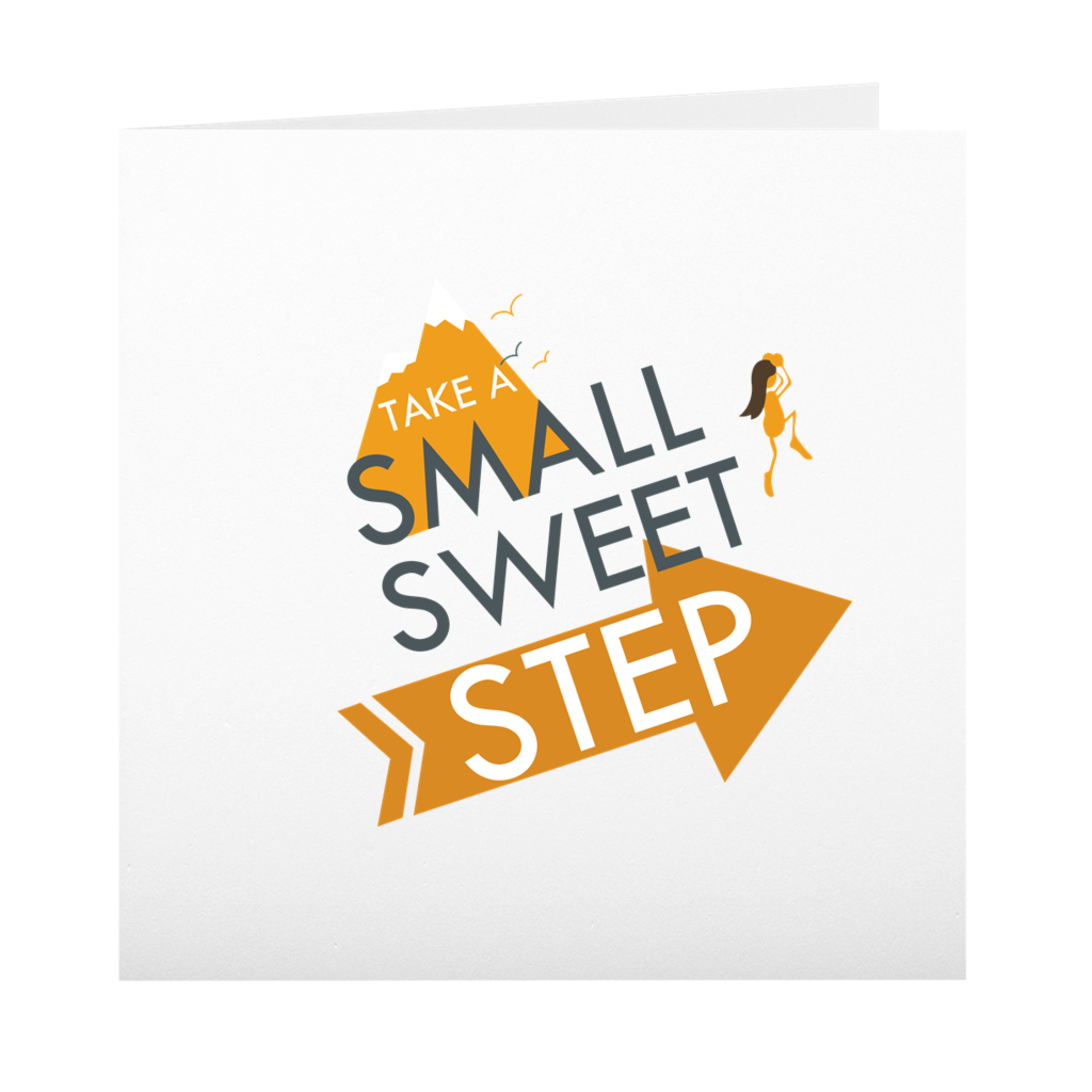 Small Sweet Step Folded Cards + Envelopes