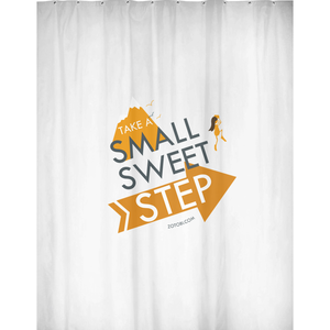 Small Sweet Step Shower Curtain