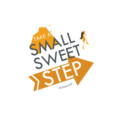 Small Sweet Step Canvas Poster