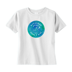 Give the Gift toddler t-shirt (watercolor)