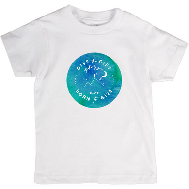 Give the Gift kids t-shirt (watercolor)