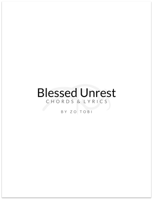 Blessed Unrest • Song merchandise