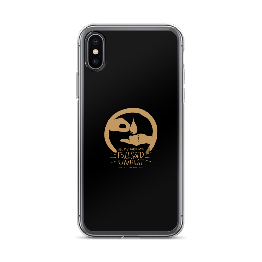 Blessed Unrest iPhone Case (Gold on Black)