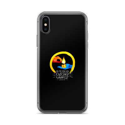Blessed Unrest iPhone Case (Full-color on black)