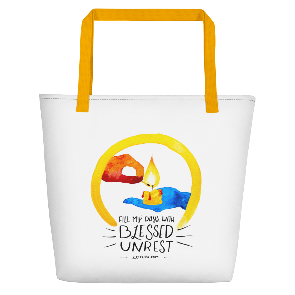 Blessed Unrest Beach Bag