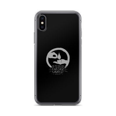Blessed Unrest iPhone Case (Grey on Black)