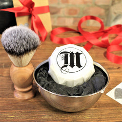 Shaving Brush with Soap & Dish