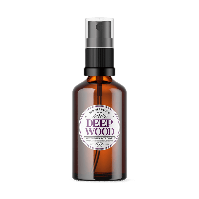 Mr Masey's Deep Wood Handmade Vegan Cologne bottle