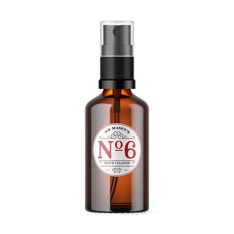 Mr Masey's Handmade Vegan No.6 Cologne bottle