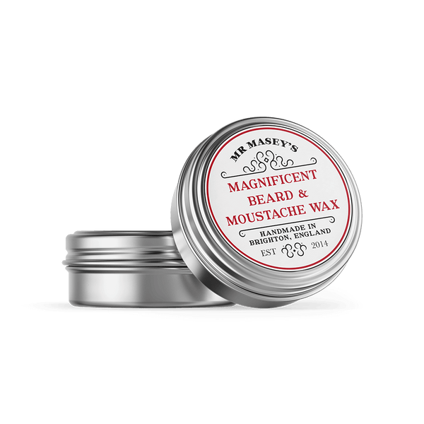 Mr Masey's Magnificent Moustache and Beard Wax tin