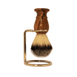 Traditional Shaving Brush Wooden Not-Badger Hair & Stand