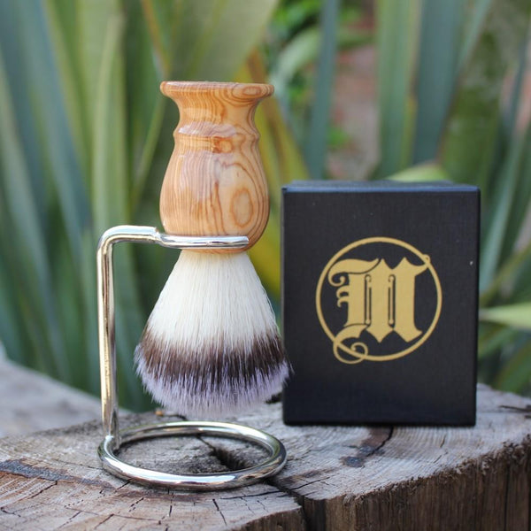 Traditional Shaving Brush Not Badger Hair and Stand