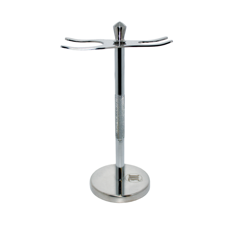 Stainless Steel Shaving Stand for razor and brush