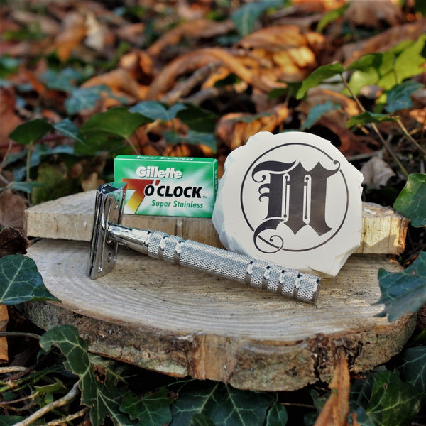 Subscription Shave Box with Razor Blades and Shave Soap