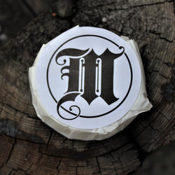 Mr Masey Traditional Shaving Soap on tree stump