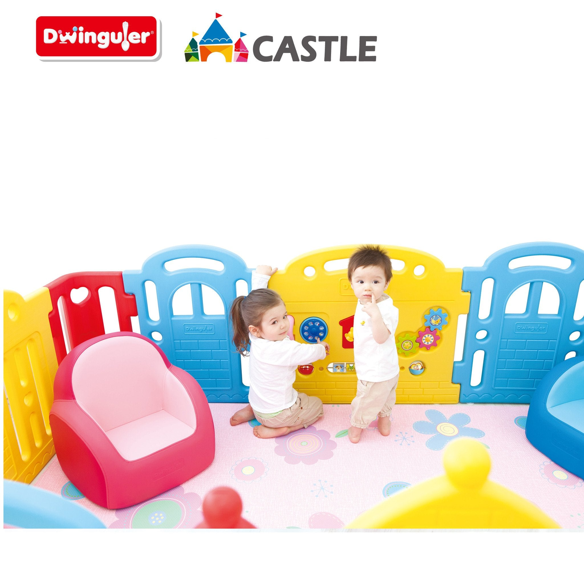 Rainbow Dwinguler Castle Play Room for kids