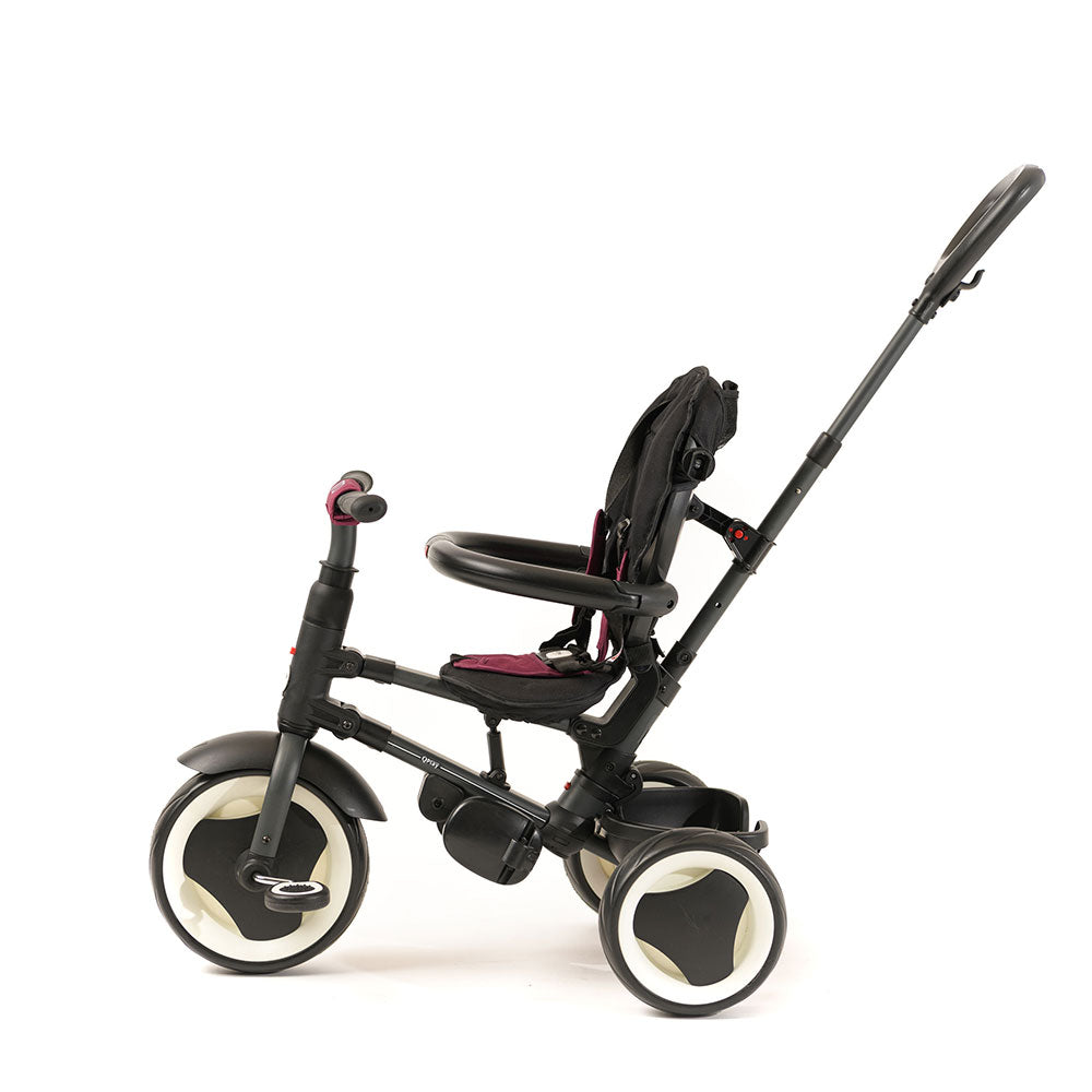 BURGUNDY RITO FOLDING TRIKE - Smart Trike for Kids with push handle