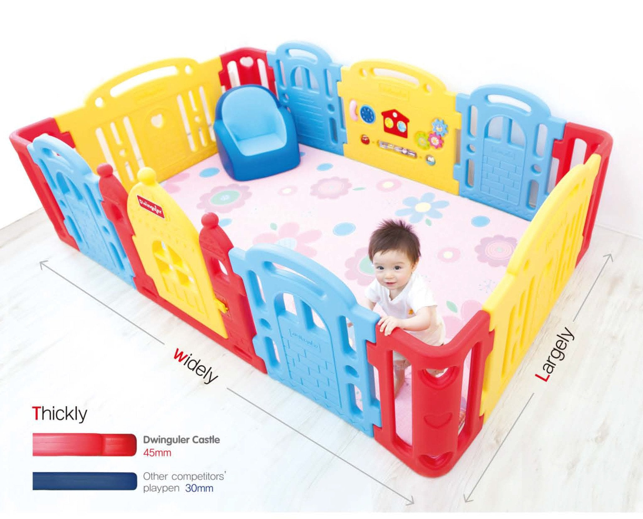 Rainbow Dwinguler Castle Playpens