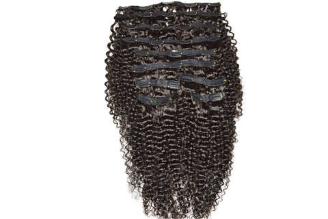 A picture of curly and wild natural hair clip-in extensions
