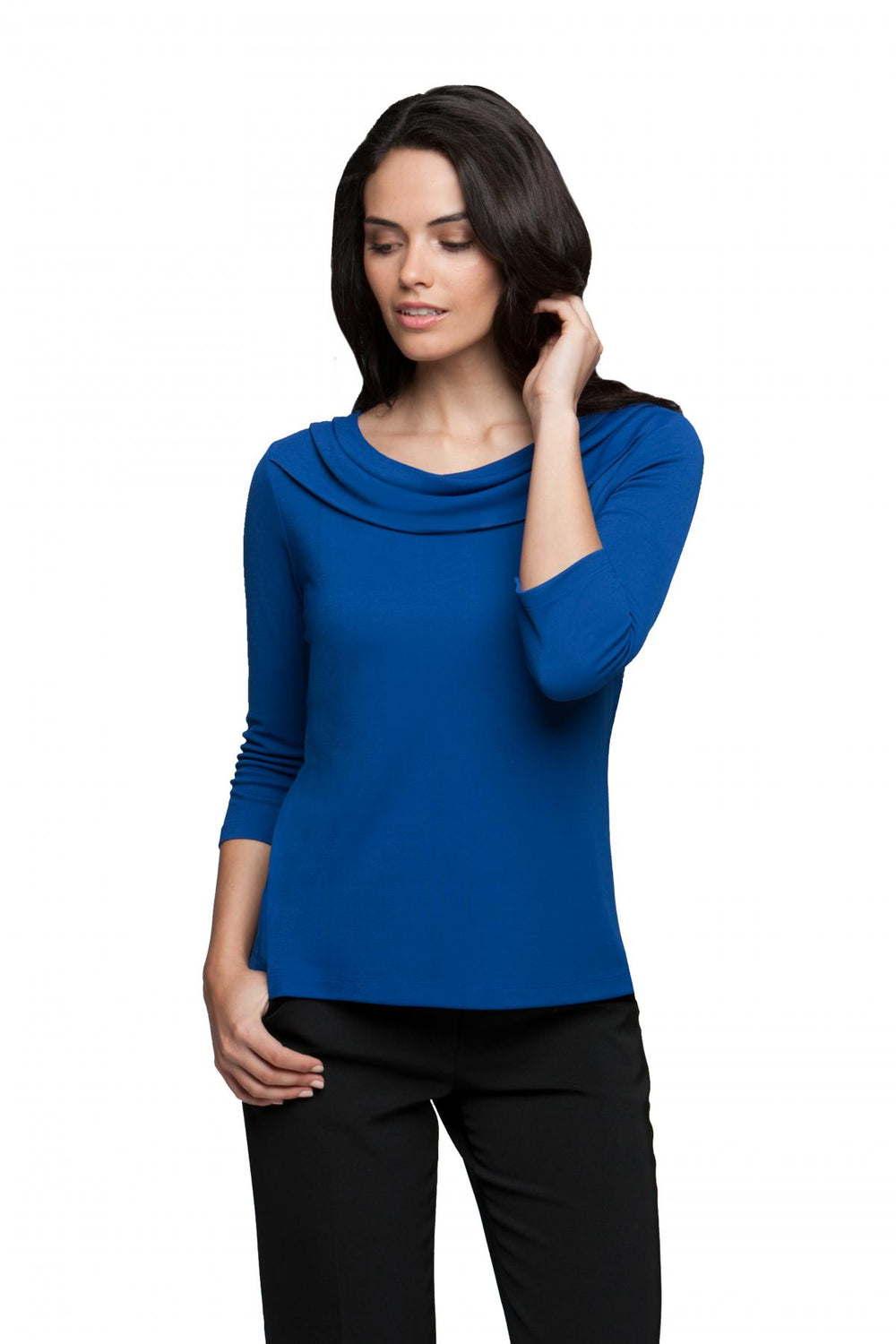 Eva Cowl Neck Top 3/4 Sleeve