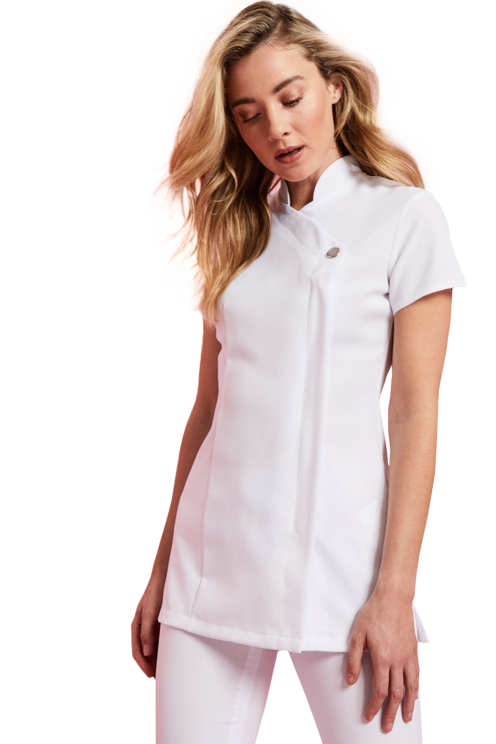 One Button Tunic  - White