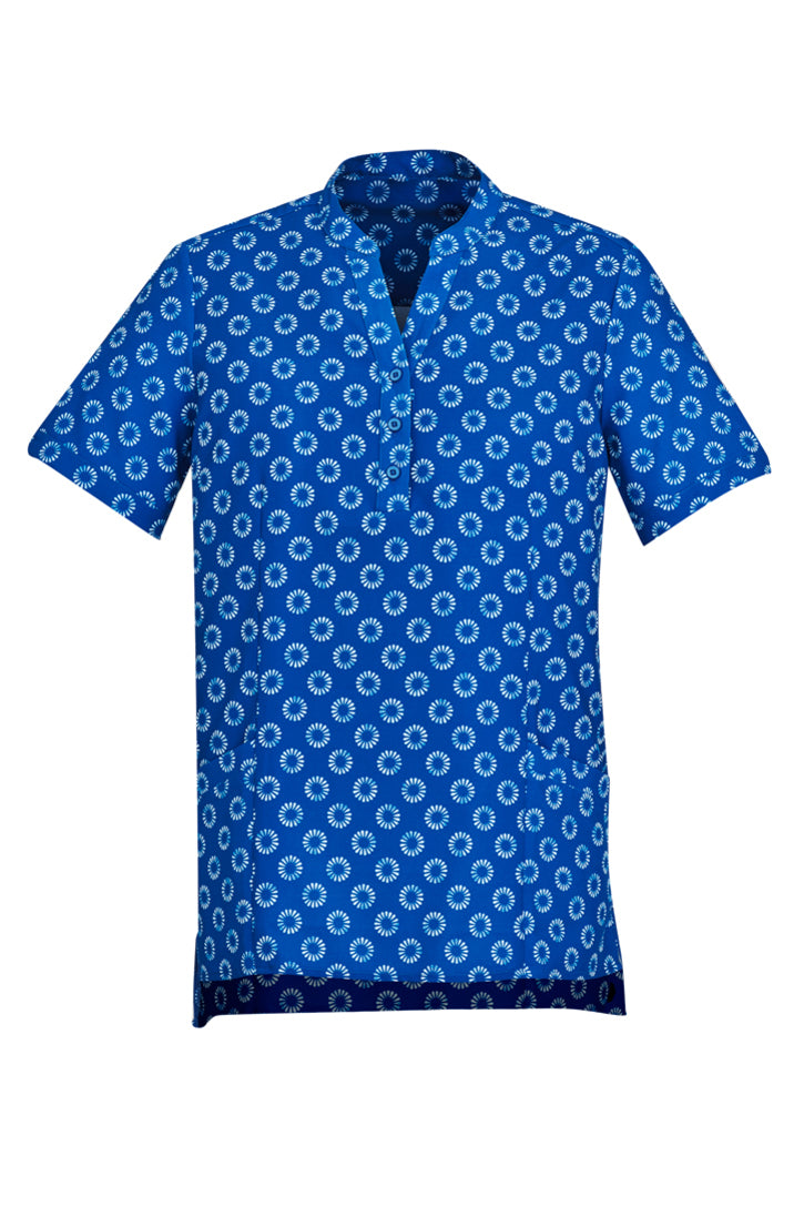 Women's Daisy Print Short Sleeve Tunic