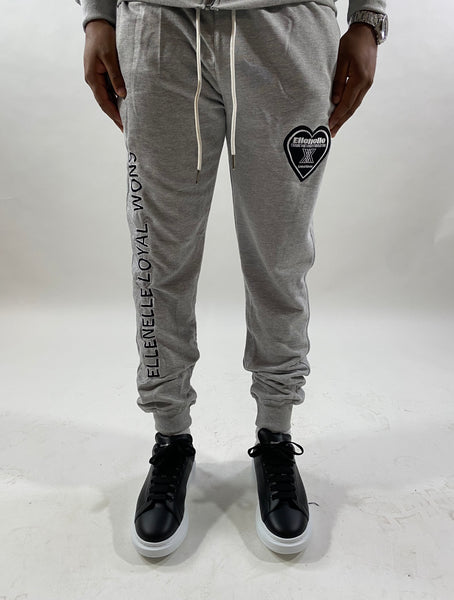 Grey Ellenelle Cotton Joggers