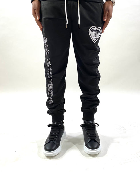 Black Ellenelle Cotton Joggers