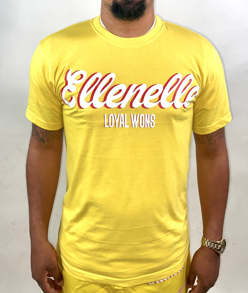 Yellow/Red Basic Ellenelle Tee