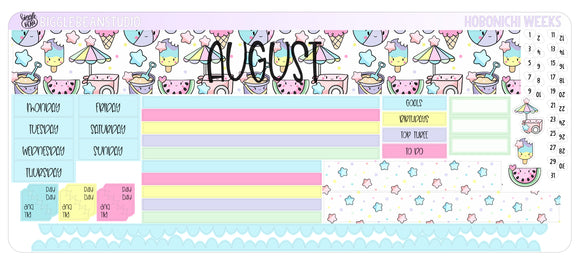 August Monthly Kit - Hobonichi Weeks
