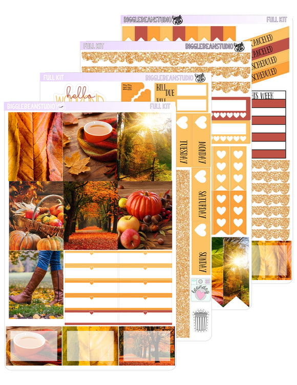 Autumn Leaves Weekly Kit | EC Vertical Weekly Kit