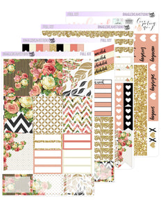 Gold Roses Weekly Kit | ECLP/TN | Valentines Kit