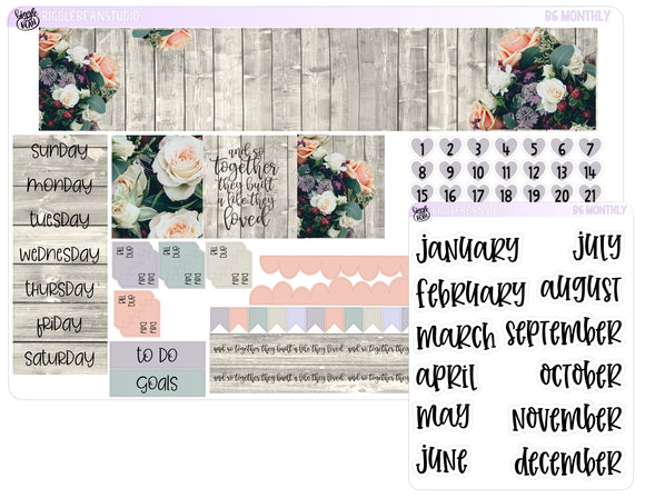 B6 Monthly Rustic Floral