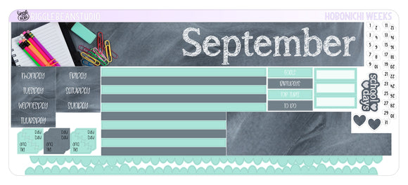 September Monthly Kit - Hobonichi Weeks