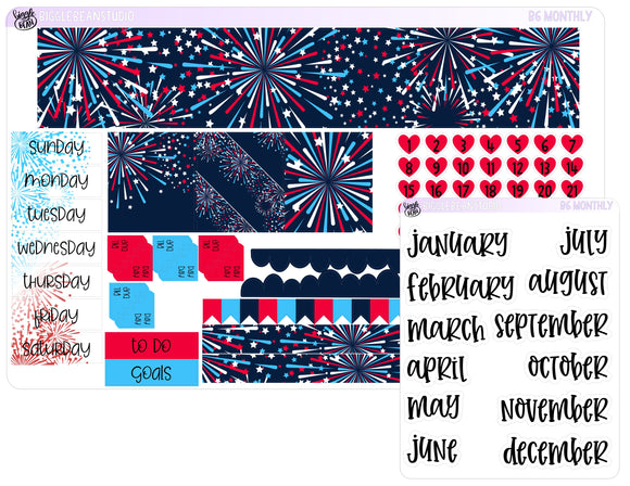 B6 Monthly Kit - Stars and Stripes