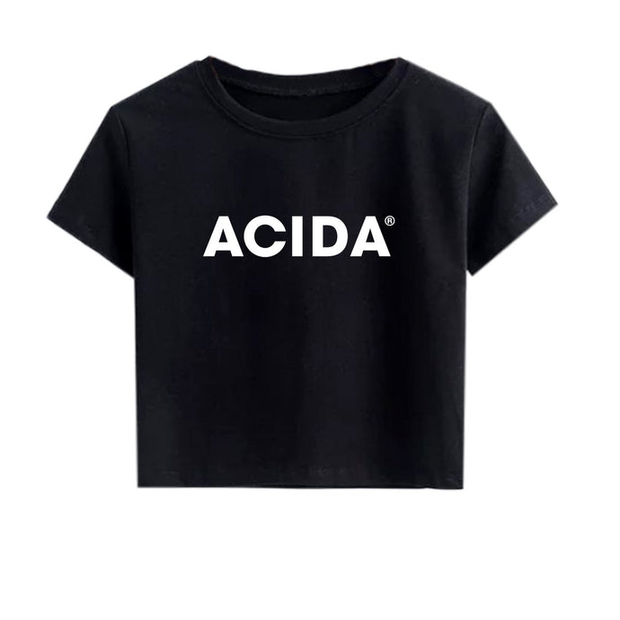 ACIDA® CROPTOP BLACK/WHITE