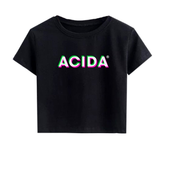 ACIDA® CROPTOP BLACK/3D