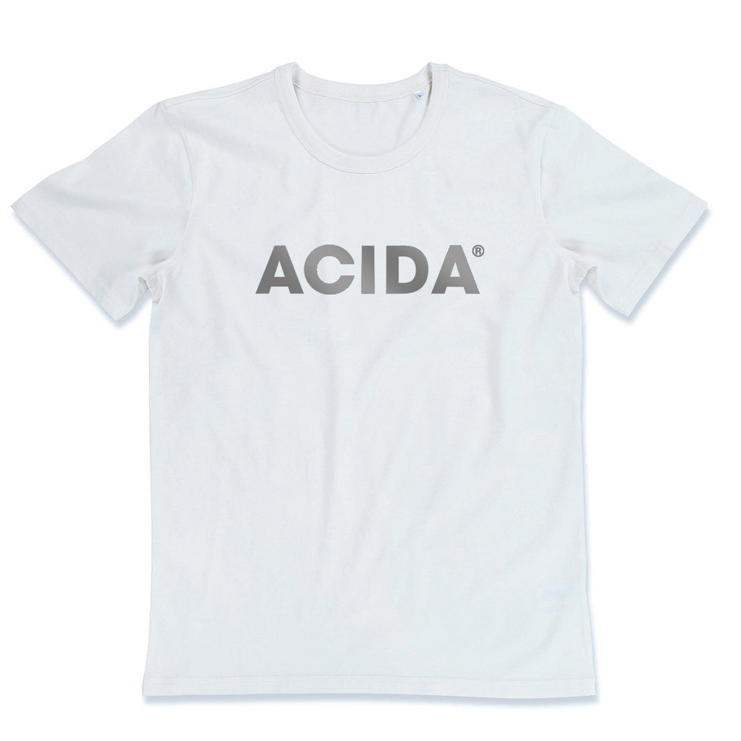 ACIDA® T-SHIRT WHITE/SILVER