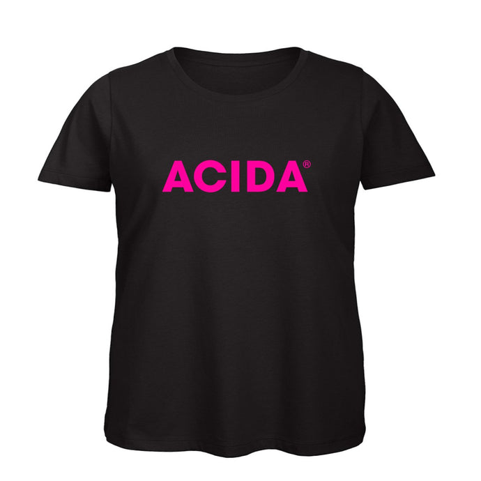 ACIDA® T-SHIRT BLACK/MAGENTA