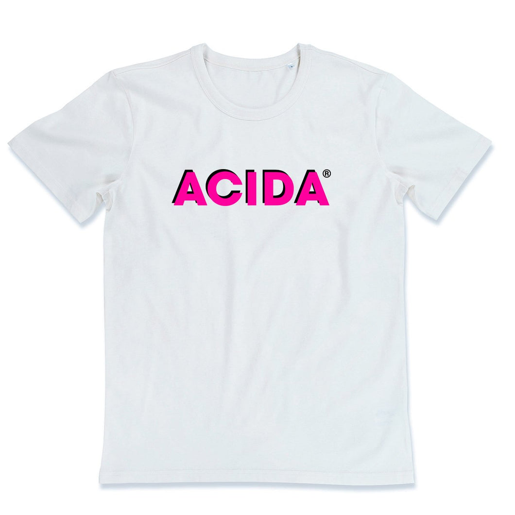ACIDA® T-SHIRT WHITE/MAGENTA