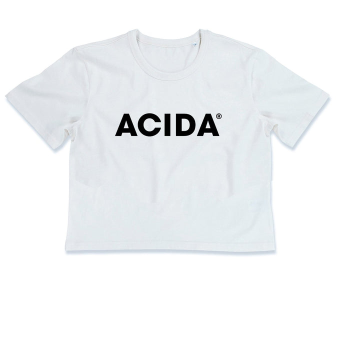 ACIDA® CROPTOP WHITE/BLACK